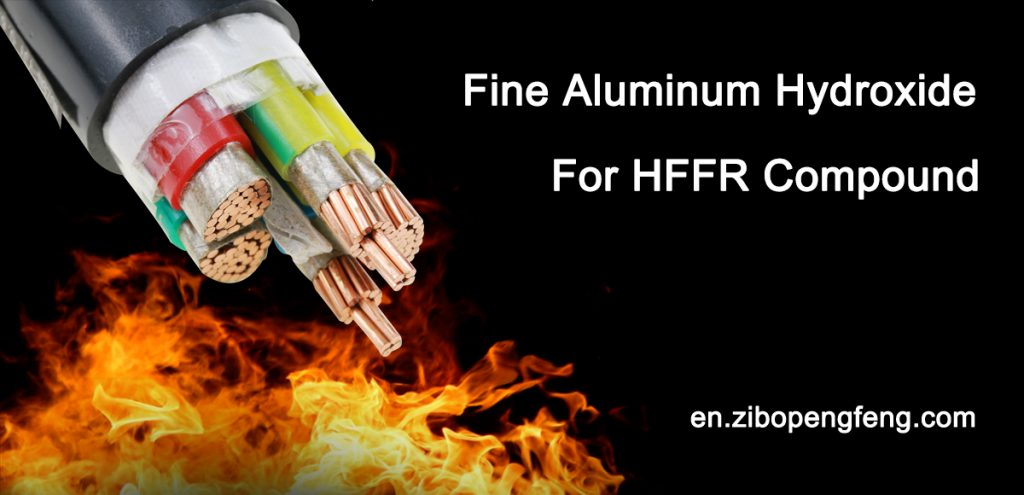 HFFR cable with fine aluminum hydroxide as flame retardant